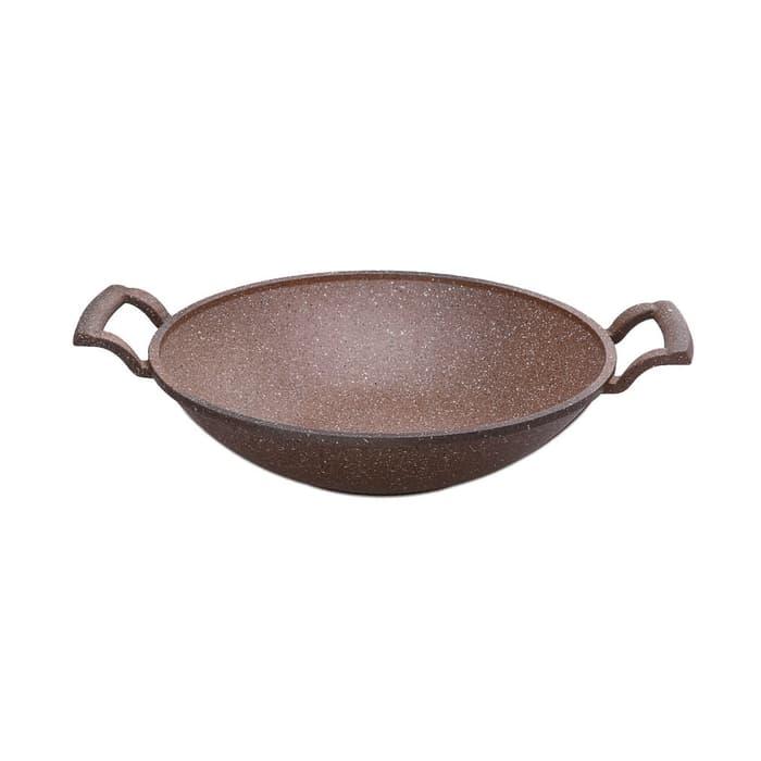 Roe Biogranit Wajan Besi Coklat Tua 30 cm